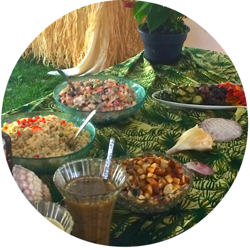 Luau Menu, Hawaiian Party, Hawaiian food, Hawaiian menu, tropical menu, tropical party, summer party, best summer menus
