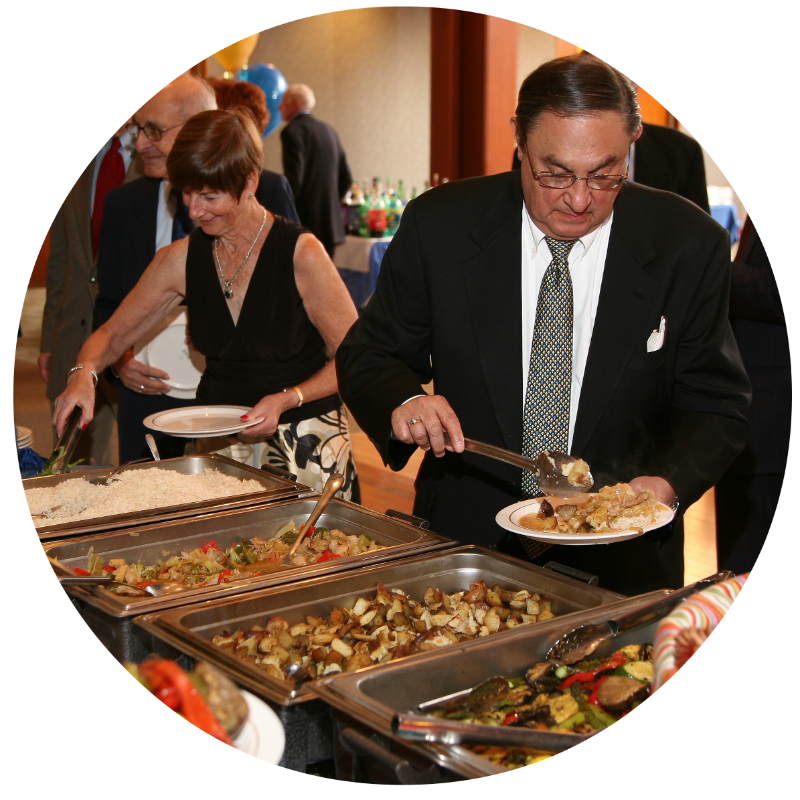 buffet, catering, full service catering, fully staffed, buffet, funeral, celebration of life, memorial