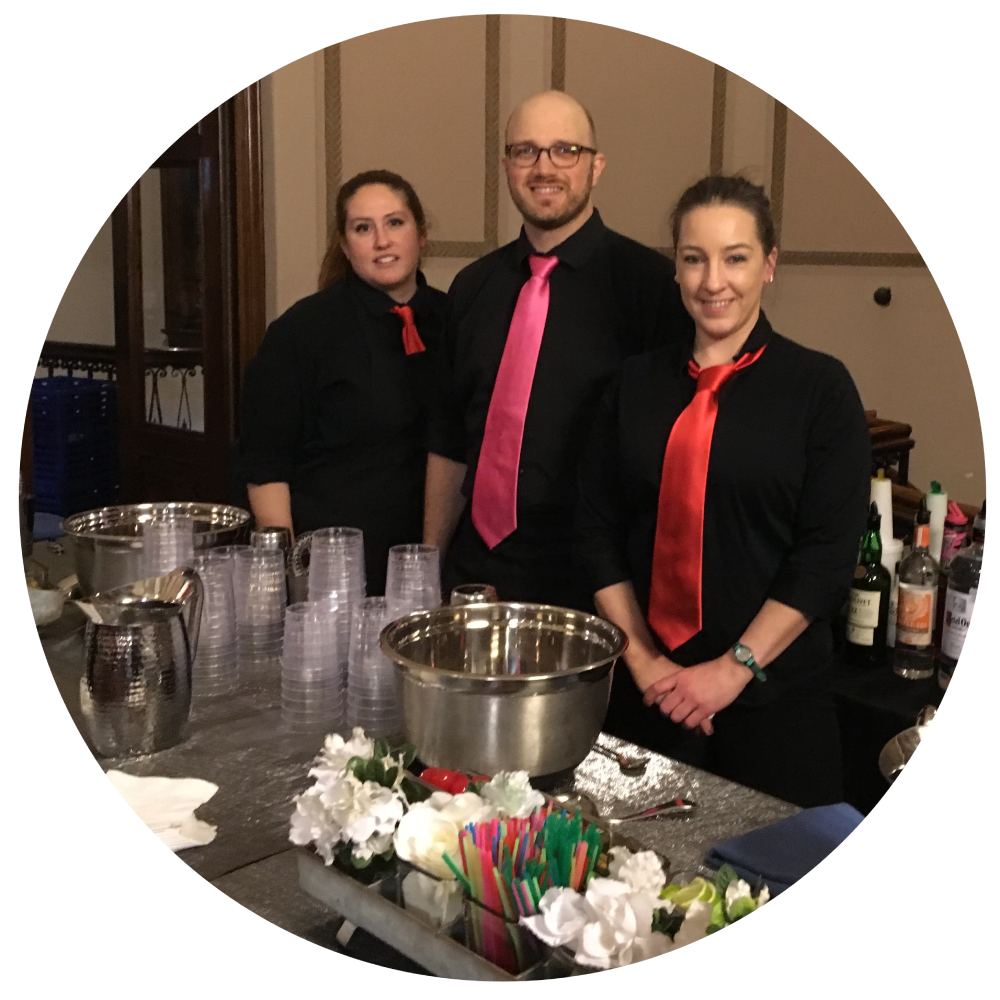 catering staff, party staff, party help, bar